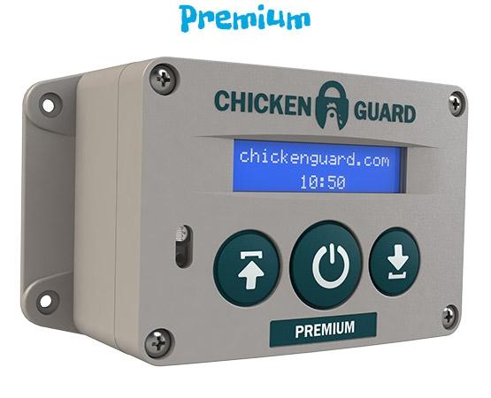Hokopener Chickenguard Premium schakelklok en lichtsensor
