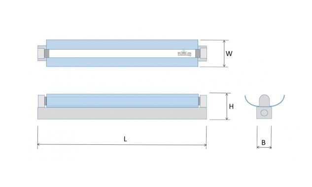 TL-armatuur hoogfrequent 14 Watt, 57 cm